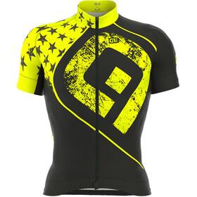 Alé Cycling Graphics PRR Star Kortärmad cykeltröja Herr gul/svart